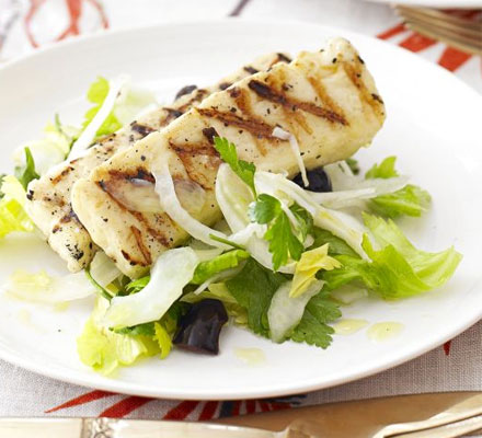 Griddled halloumi with fennel