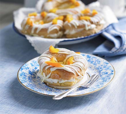 Paris-Brest with white chocolate