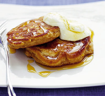 Pineapple & banana pancakes