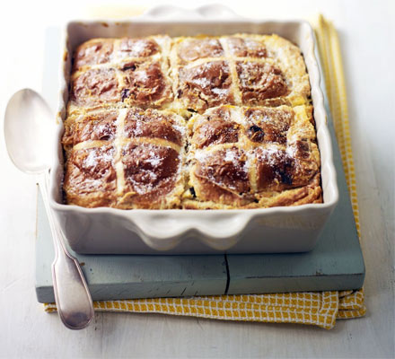 Hot cross pudding