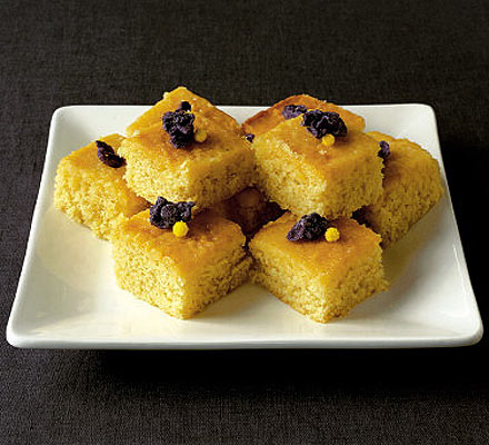 Violet drizzle cake