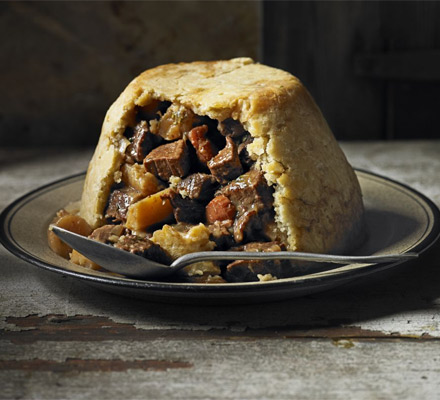 Beef & ale pudding