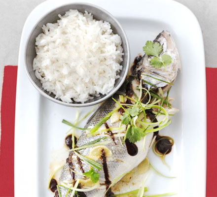 Sea bass with black bean sauce