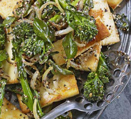 Paneer with broccoli