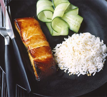 Miso-marinated salmon