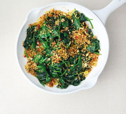 Spinach with chilli