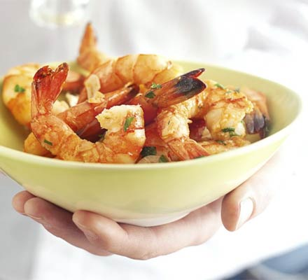 Prawns with sherry