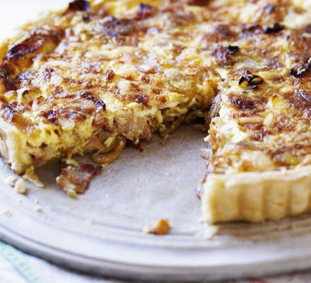 Cheese & bacon quiche